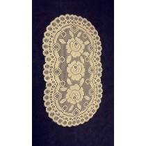 "European Lace Doily 12""x20"" Ivory"