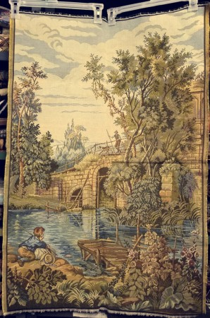 Postoral 1687 French Tapestry Wall Hanging