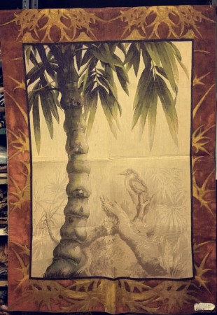 Palm With Bird Wool Tapestry Wall Hanging