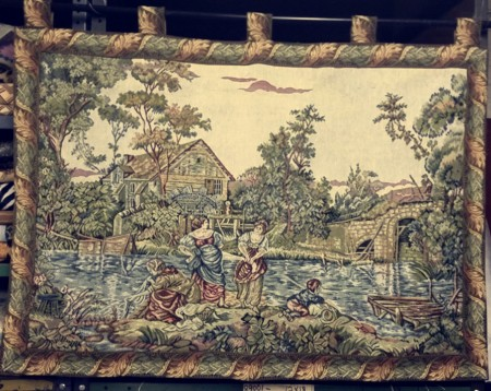 Canal French Tapestry Wall Hanging